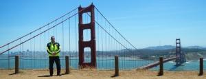 Neon Rider Golden Gate Bridge