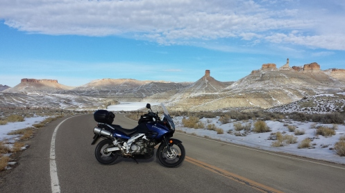 I was able to ride one last time in 2013 on Dec 18th.  I picked up the bike after getting new tires and went for a ride to Firehole Canyon.