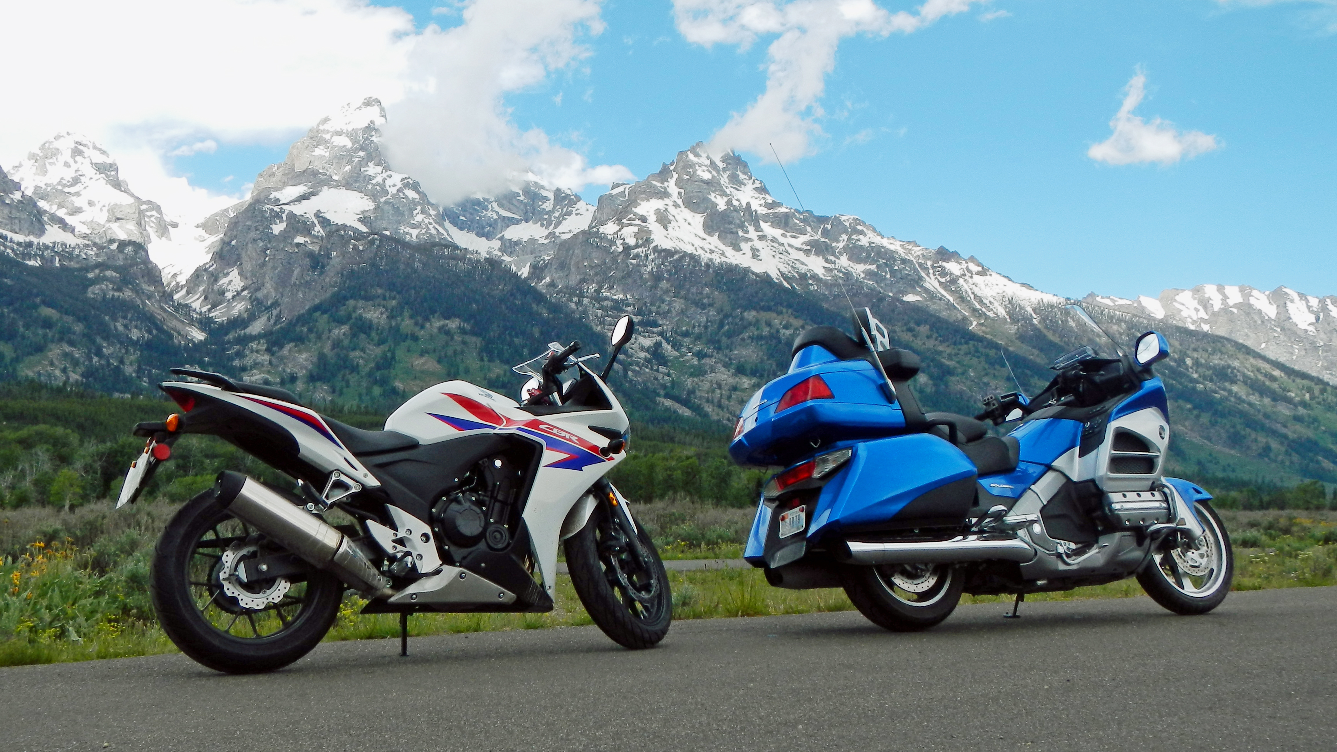 Gold Wing and CBR Tetons