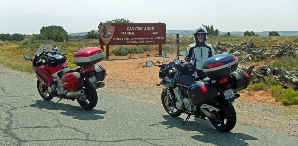 Two-Bikes-Canyonlands-Sign